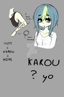 Referance Sheet - Karou (my personna) by Karoudrawws