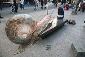 3D illusions: the snail by Man-Of-World