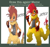 Improvement Meme Scrafty Version by TurquoiseWolfStar7