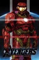 Video Game Avengers Iron Master Chief Fan Art by rs2studios