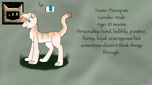 Dunepaw Ref by silverwing2254
