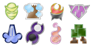 Old Terevan Gym Badges by Spotted--Jaguar