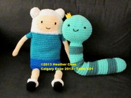 Adventure Time amigurumi - Finn and King Worm by amigurumi
