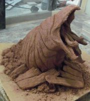 WIP Graboid Sculpture : angle9 by Psyartista9