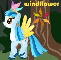 Commision for lilyBear52: Windflower Ponification by Willemijn1991