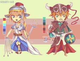 ADOPTABLE AUCTION: KNIGHTS C/D (CLOSED) by Sychandelic
