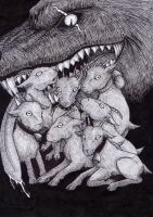 The Wolf and the Seven Young Goats by BoraNera