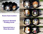 Kanto Gym Leaders Glass Holo Card Bracelet! by BlackManaBurning