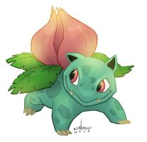 #002 Ivysaur by StarvingStudents