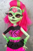 Monster High Ghouls Day of the Dead Venus Custom by AdeCiroDesigns