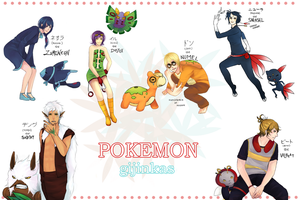 Pokemon Gijinka Dump by sheepsgobaaa