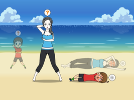 Wii Fit Trainer and Villager Body Swap Part 3 by Widowmaker-Evan