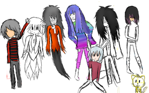 All of my Oc's (not done) by kiriokus12