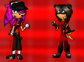 TF 2 Gift: Scout Vanni and Pyro Mike by XvanniX