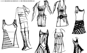 Fashion Outfit Sketches by JaM-FaiRY