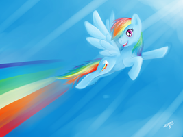 Rainbow Dash by Mazzy-elf