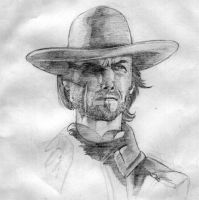 clint eastwood by mozzzca