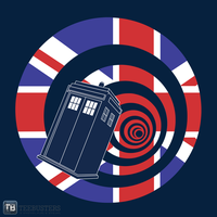 UnionJackTardis ZoomImage by Teebusters
