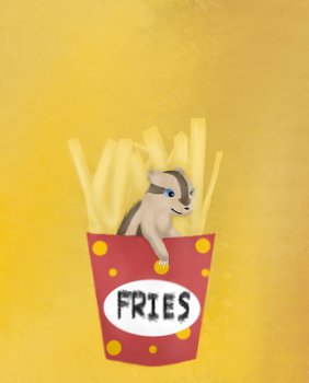 Fries the Linoone by ElectricalAlchemist
