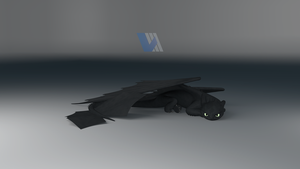 Night Fury Dragon Resting - Ver.2 by V3DT