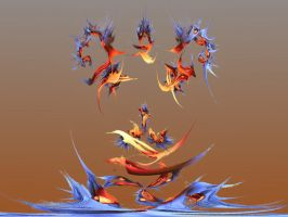 Flock Of Seagulls by damndansdawg