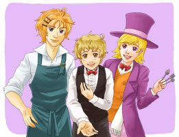 Cooking bachelors by Yoru-no-Angel