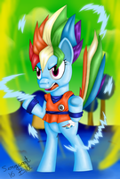 Super Pony Rainbow Dash by sergeant16bit