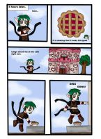 Kisshu makes a pie 3 by Gnomiee