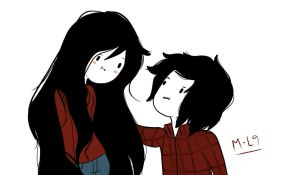 Marceline N Marshall Lee by michelle-lennon9