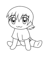 Chibi Lineart Request for BigLittleSqueeBoyDL by Blood-B0xer