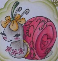 girly snail by snail-love