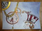 Clock 'n Hatter Card by Hedgefairy