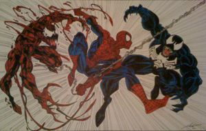Spider-Man vs. the Symbiotes by darklordzor