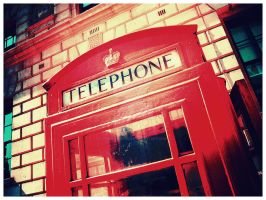Phone Booth, London by TheLovingKind89
