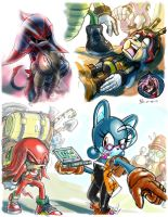 Sonic Archie Comic Studies 01 by darkspeeds