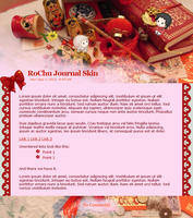 Red Decorations - RoChu journal skin by number11train