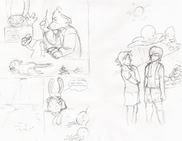 Sketches for the 100 theme by Shinyako