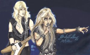 KK Downing and Doro collab 1 by cozywelton