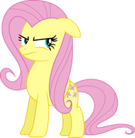 Fluttershy isn't Amused Vector by socsocben