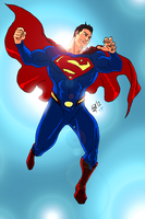 New Earth:Superman by kyomusha