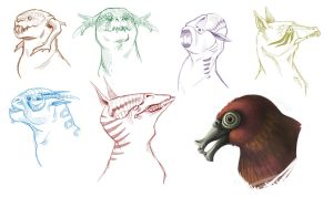 Creatures Sketches by SilentReaper