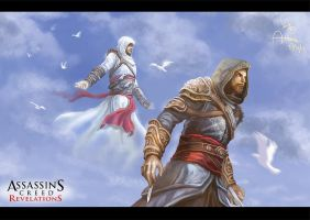 The White Spirit--Altair and Ezio by Athena-Erocith