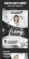 Winter White and Ivory Flyer Templates by ImperialFlyers