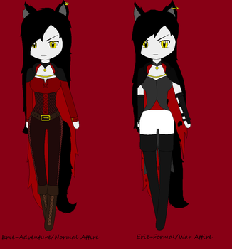 Erie the Vampire Cat-Different Attire by ShadowCat98