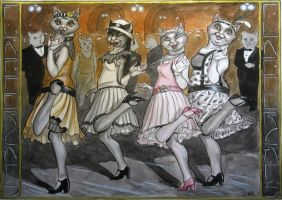 Flappercats by cidaq