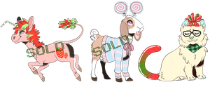 {ADOPTABLES} quick doodle food animals [CLOSED] by kaijuparty