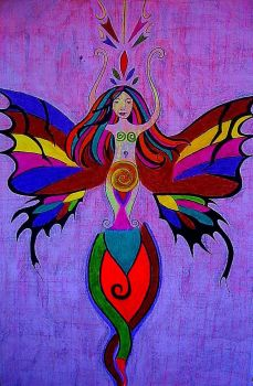 colourfull fairy by MariaFunArt