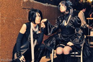 Ciel and Sebastian visual kei by KaitokuXI