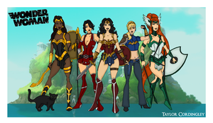 My DCU - Wonder Woman Amazon Redesigns by Femmes-Fatales