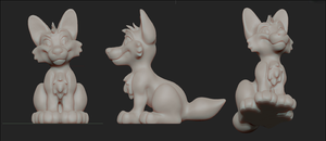 3D: Doggy Model by SilverDeni